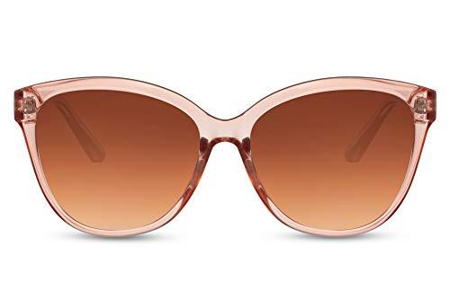 Cheapass Gafas de sol Sunglasses clásicas para mujer, gafas de sol de mariposa rosa transparentes con lentes degradados para mujer con protección UV400