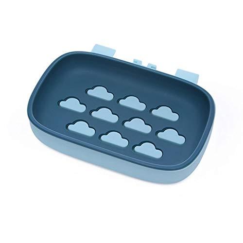 LYPSGZNfeizh Soap Box, Bathroom Drain Bar Soap Dishwashing Soap Protector New Colorful Portable Soap Dish Double Hole Soap Dish 1PC (Color : Blue)