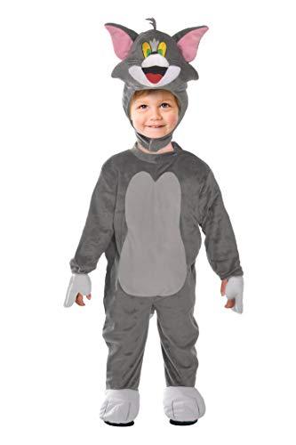 Ciao- Tom Gatto Costume Tutina Travestimento Originale Tom & Jerry (Taglia 2-3 Anni) Bambino Unisex, Grigio, 11725.2-3