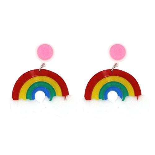 PRETYZOOM 1 Paar Lesben Baumeln Ohrringe Wolkenohrring Schmuck Kreative Ohrentropfen für Homosexuell Stolz Damen