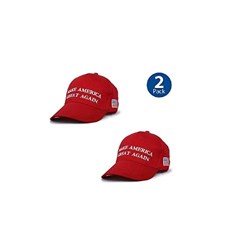 Make America Great Again Hat [2 Pack], Donald Trump USA MAGA Cap Adjustable Baseball Hat Red