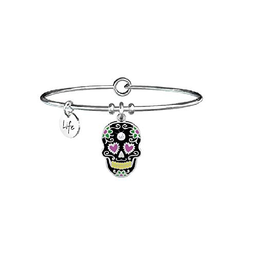 Kidult Damen-Armband aus Stahl Totenkopf Mexikanisch ohne Paura 731366