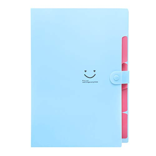 TONVER - Carpeta de documentos (A4, con compartimentos para documentos y accesorios)