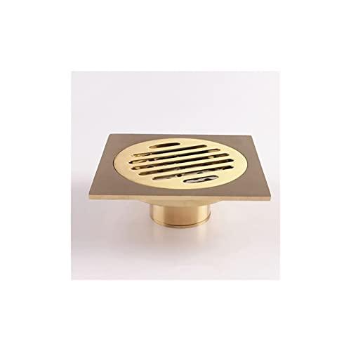 Alysays Útil 1 desodorante de cobre de 4 pulgadas, drenaje cuadrado de piso, baño, lavadora, desagüe de suelo, conveniente (color: A)