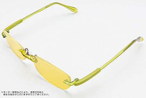 医療用フィルターレンズ使用パソコンメガネ サプリサングラス<フィット Fit01(FRV-002)> (ライトグリーン(c3), ミドルイエロー)