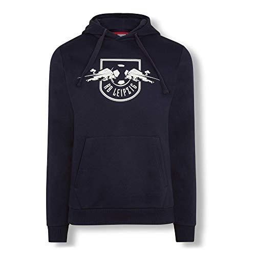 RB Leipzig Essential Mono Hoodie, Blau Unisex Medium Kapuzenpullover, RasenBallsport Leipzig Sponsored by Red Bull Original Bekleidung & Merchandise