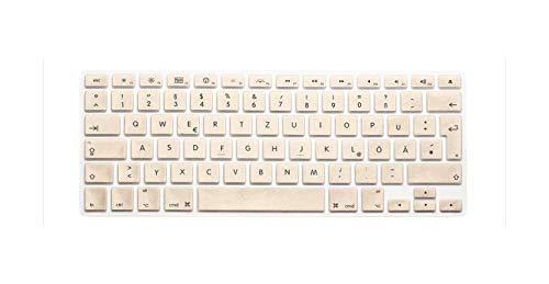 Russian - Carcasa de silicona para Apple MacBook Air Pro Retina 13 15 17 para Mac Book Laptop Skin-Gold