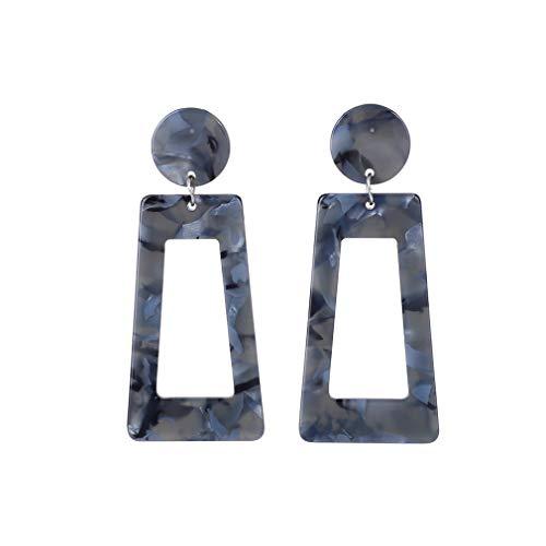 YAZILIND Simple personalidad cuelga el pendiente Retro resina geométrica acrílico colgante pendiente pendiente de la joyería de las mujeres regalo (Color3)