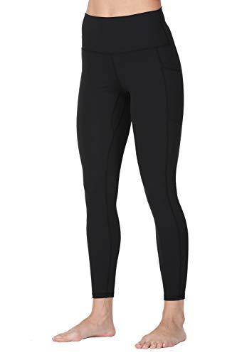 Wirezoll Sport Damen Leggings, Lange Blickdicht Yoga Hose Sporthose Fitnesshose mit Taschen, Upgrade Schwarz, L