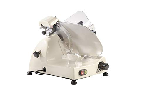 FAC - Affettatrice Elettrica Curvy Line C220 - Lama 22cm - Affilatoio Fisso (Crema)