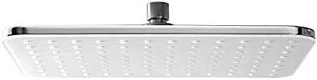 Tête de douche rectangulaire NT20130 x 22 cmcouleur chrome ou noir sélectionnable CouleurChrome