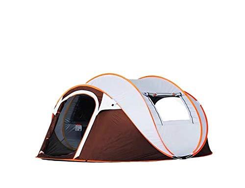 Tienda de Playa Tienda Pop Up Portátil,Tienda De Inodoro para Acampar,Carpas al Aire Libre para Varias Personas, Camping Libre de Carpas-Brown y White_250 * 150 * 115cm