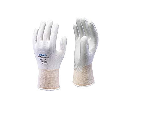 SHOWA 370, Rivestimento in Nitrile, Usi generici, Bianco con rivestimento grigio, 9/XL