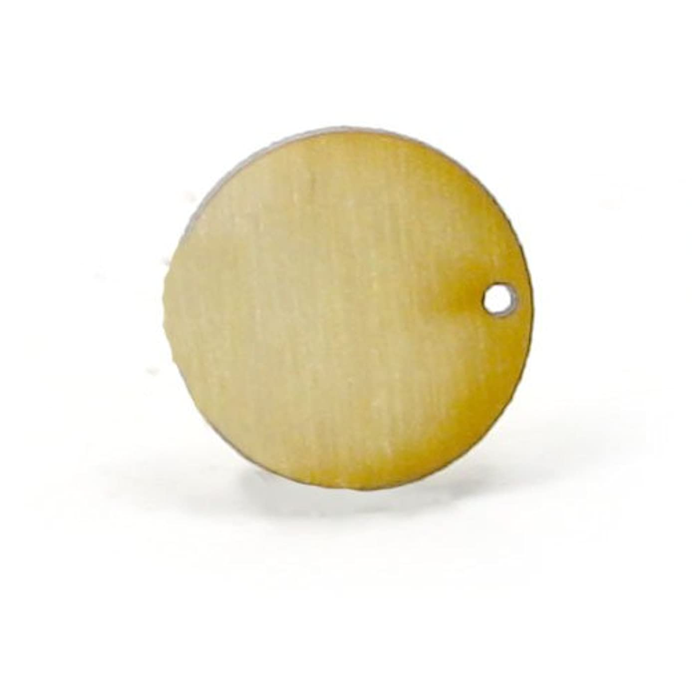 Mylittlewoodshop Pkg of 100 - Circle Cutout - 3/4 inch in diameter with 1 1mm holes and 1/8 inch thick unfinished wood (LC-CCWH04-100)