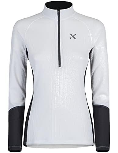 MONTURA thermic MMZP59W 39 - Camiseta técnica para mujer, ideal para actividades al aire libre, como senderismo, escalada, alpinismo, esquí y alpinismo, blanco, XL