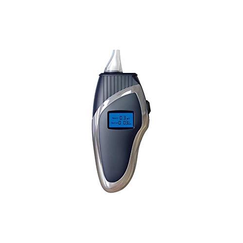 HEMFV Probador de alcohol en el aliento Alcoholímetro, probador de alcohol para respiración portátil, analizador de respiración profesional con pantalla LCD digital con 10 boquillas para conductores o