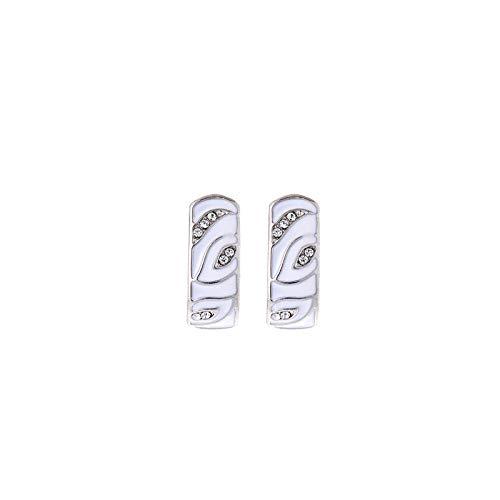 Pendientes Mujer Moda Exquisitos Pendientes De Circonita Blanca Redonda Temperamento Femenino Regalo De Joyería Romántica
