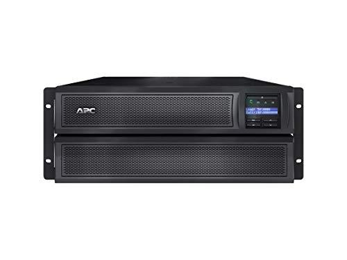 APC UPS, 3000VA Smart-UPS Sine Wave, Short Depth UPS Battery Backup with Extended Run Option, Network Management Card, 4U Rack/Tower Convertible, Line-Interactive, 120V (SMX3000LVNC)