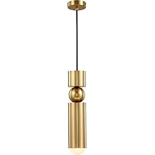 YWJPJ. Luz Colgante Moderna, Soporte De Lámpara 5W Loft Bar Colgante Colgante Luces De Techo con Cables Ajustables De 160 Cm, para La Cocina Isla Sala De Estar Comedor (35 * 6 Cm)