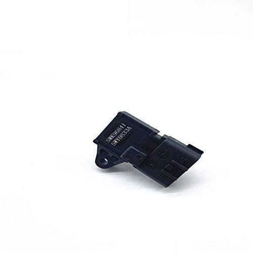 Sensor 5WK96841 2045431 4BAR (4 bar) Colector de admisión de presión de aire del sensor de MAP sensor en forma for Renault Peuget 405 en forma for Kia Pride Hyudai Citren (Color : Black)