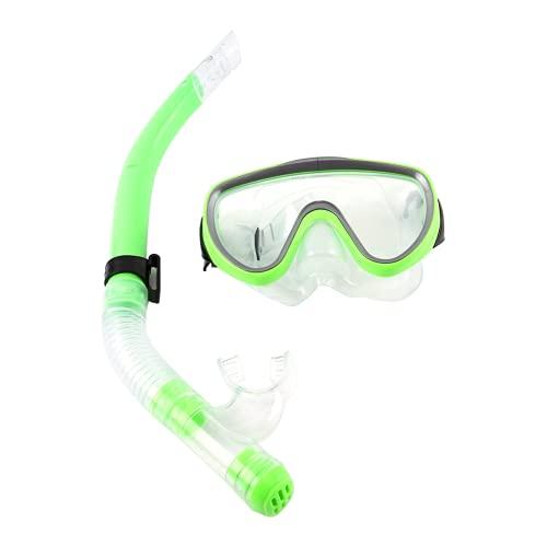 Snorkel Kids, Máscara De Snorkel, Lente Antivaho Que Brinda Una Visión Cristalina, Suave, Saludable Y Respetuosa con El Medio Ambiente para 1 Juego De Snorkel para Estilo Libre(Verde)