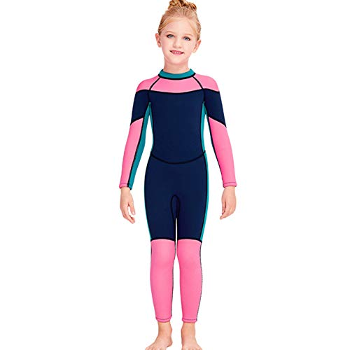 AHIN Traje De Neopreno Elasticidad, Traje De Surf de Neopreno 2.5mm, Trajes De Buceo in Siamés, para Pesca Snorkel Surf Piragüismo Buceo,Navy Blue,M