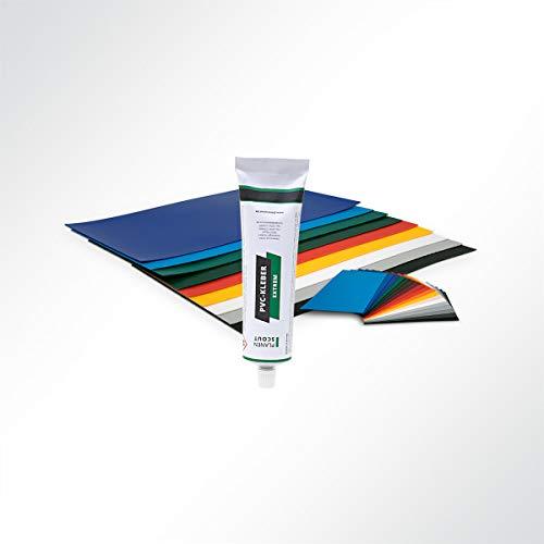 Lysel® Planenreparaturset PVC-Flicken und PVC-Kleber RAL 8017 Schokoladenbraun