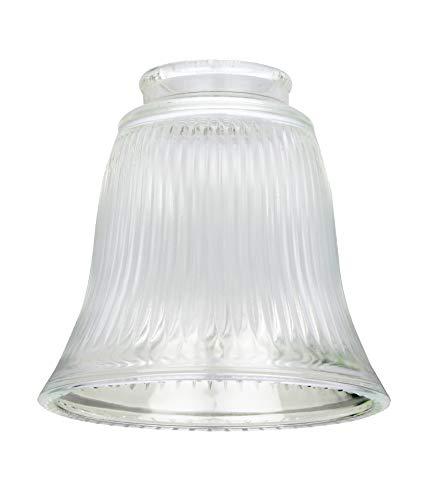 Westinghouse Lighting 8703740 Lampenschirm 4,2 cm aus klarem Riffelglas, Glockenform, weiß, 12 x 12 x 11.51 cm