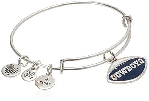 Alex and Ani Women s Color Infusion Dallas Cowboys Football II EWB Bracelet, Rafaelian Silver