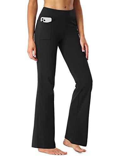 SEVEGO Pantaloni da Yoga Bootcut da Donna con 4 Tasche, 74cm/78cm/84cm/90cm Cucitura Interna,...
