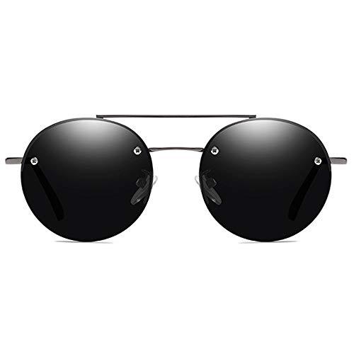 LG Snow Clásicas Gafas De Sol De Material Metálico, Negro/Gris, Lentes En Gris, Hombres Y Mujeres con Las Mismas Gafas De Sol Polarizadas (Color : Gray)