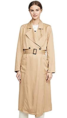 cupcakes and cashmere Women's Melody Lyocell Trench, Army Tan, MD