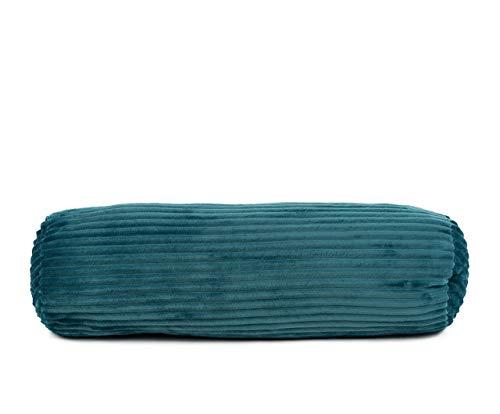 Gözze Kissenrolle in Cord Optik, 70 x 22 cm, Petrol, 40067-54-070022