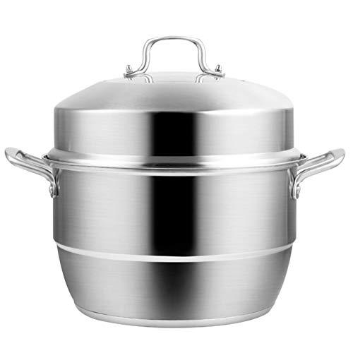 zyl Olla de Vapor de Acero Inoxidable Olla de Vapor para Alimentos Olla de Cocina Olla de Vapor Multiusos con Tapa para cocinar 28 cm FACAI (tamaño: 32 cm)