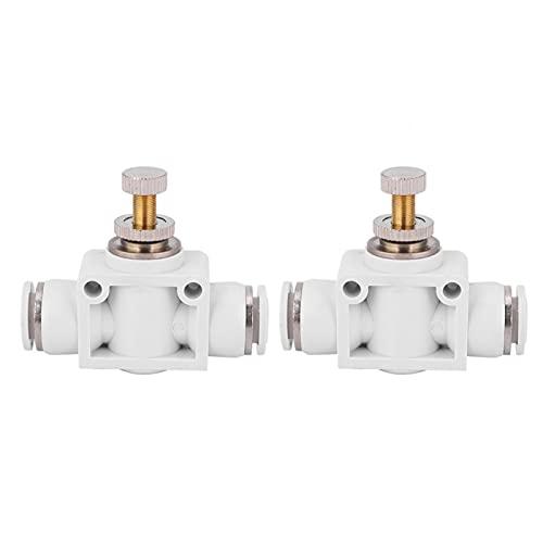 Acoplamiento rápido sin conector de acelerador de rebabas Válvula de control de perilla ajustable para sistema neumático para control de velocidad del aire(6)