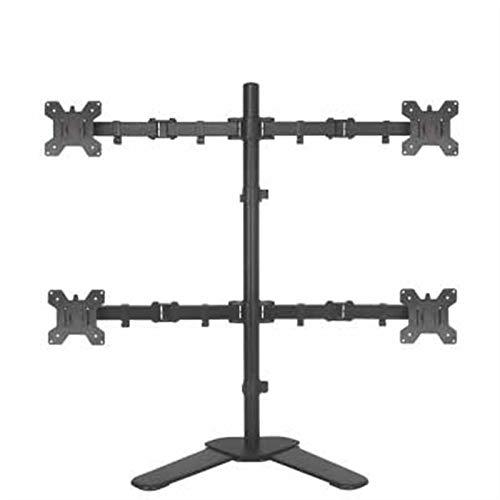 Soporte de Suelo para TV para Sala de Estar Muestra de cristal líquido de aleación de aluminio Cuatro soporte de pantalla Multi Pantalla de pantalla Multifuncional Lifting Telescópico Universal Deskto