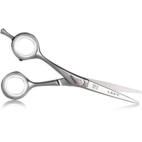 """Ciseaux de coiffeur professionnels et pour barbier pour coupe cheveux 5,5"""" pour gauchers ronds"""