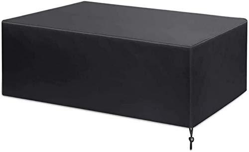Fundas para muebles de jardín impermeables 110x110x85cm, juego de fundas para muebles de patio, fundas para mesas de patio, juego de cubos de ratán, funda 420D, tela Oxford, dobladillo ajustable ant