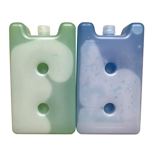 hielo nevera portatil,reutilizableBolsa refrigerada,2pcs 400ml Caja de hielo Caja de cristal de hielo Caja de hielo llena de agua Paquete de hielo Caja de hielo Caja de hielo de mantenimiento fresco