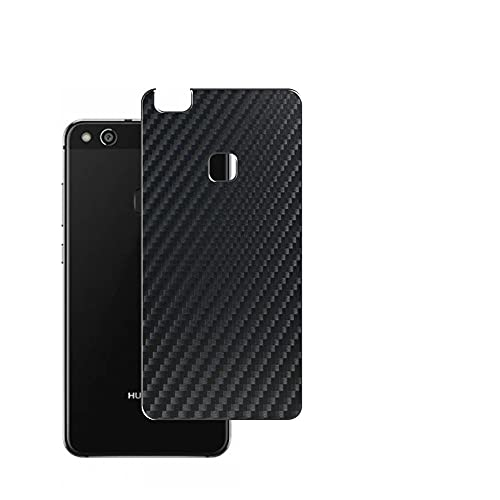VacFun 2 Piezas Protector de pantalla Posterior, compatible con HUAWEI P10 Lite, Película de Trasera de Fibra de carbono negra Skin Piel