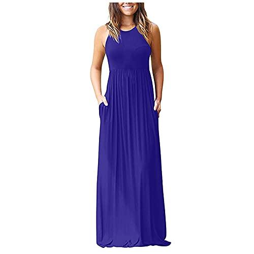 Pangki - Correas de bolsillo de color liso europeas y americanas para verano y primavera, para mujer azul marino M