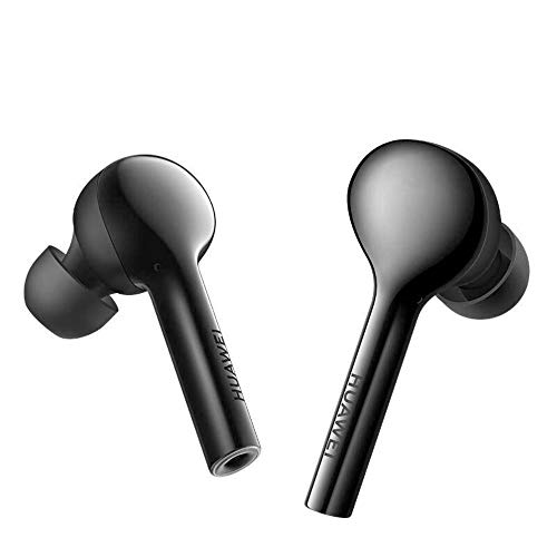 Gooplayer para Huawei FreeBuds Auricular inalámbrico Bluetooth con micrófono Música Deporte Moda Auricular táctil Manos Libres (Black)
