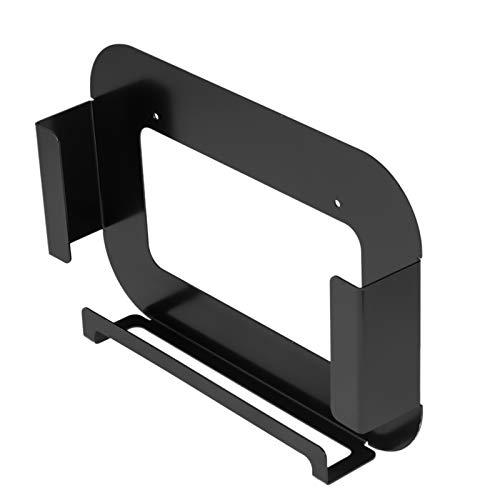 Staffa supporto da parete per SKY Q Mini Box in nero, staffe di montaggio per SKY Q Mini supporto da parete con foro rettangolare sul retro per segnale più forte ed emettere calore