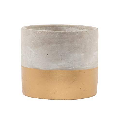 Pot de fleurs en ciment Touva - Doré