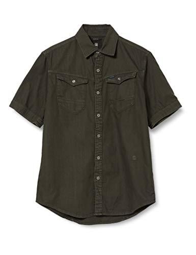 Photo of G-STAR RAW Men's Arc 3D Slim Short Sleeve Shirt, Asfalt 7647-995, Medium