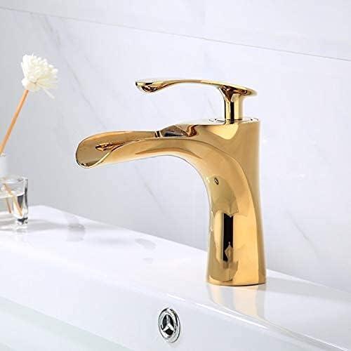 LBMTFFFFFF Basin Faucets Brass Sink Hole Faucet Cheap mail order shopping Single Popular standard Waterfall