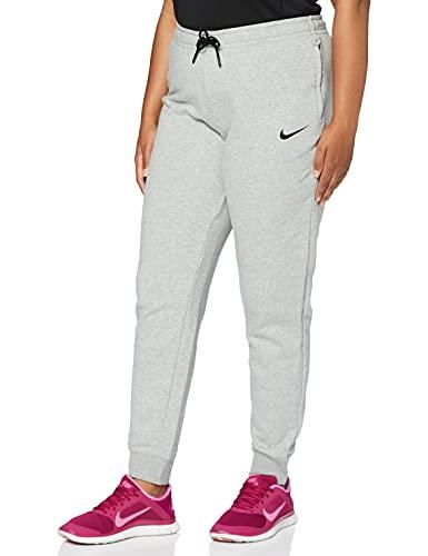Nike Women's W NK FLC PARK20 Pant KP, dk Grey Heather/Black/Black, S