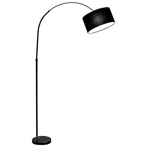 GIOAMH Lámpara de pie de lámpara de pesca, lámpara de pie de poste alto, luz de piso para sala de estar de estudio, sala de estar, oficina,Negro