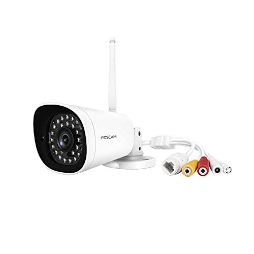 FOSCAM G4P-Telecamera IP Esterna 4 MP, Wi-Fi, con Visione Notturna, 20 m, Full HD 2 K, rilevamento di Movimento, Bianco