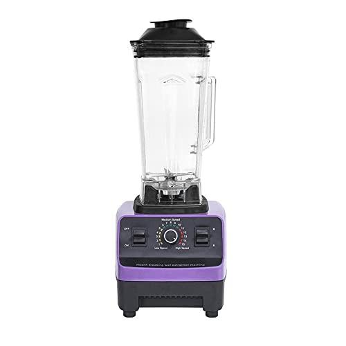 MIXY Procesador de alimentos profesional para batidos, hielo y frutas congeladas, 10 L Power Blender Cups Combo, mezcla, picar, mezclar masas, morado